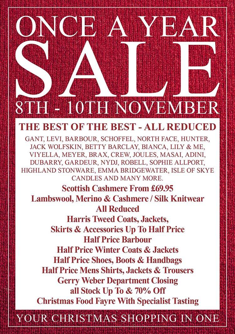 House of Bruar Annual Sale