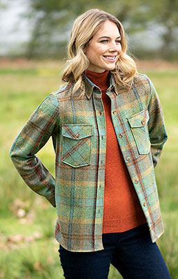 LADIES TWEED OVERSHIRT