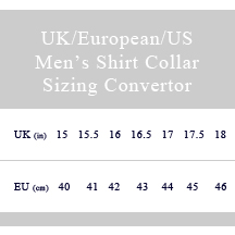 European shirt size to us