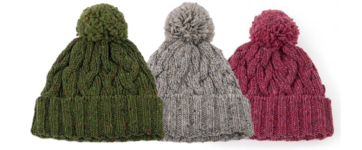 cashmere and wool bobble hat