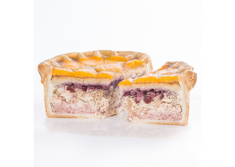 Apricot and Poultry Pork Pie