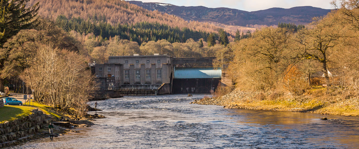 Pitlochry dam and salmon ladder