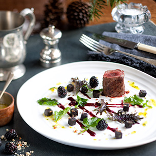 Venison & Black Pudding Salad