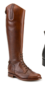 House of Bruar Ladies lace up classic leather riding boot tan country fashion