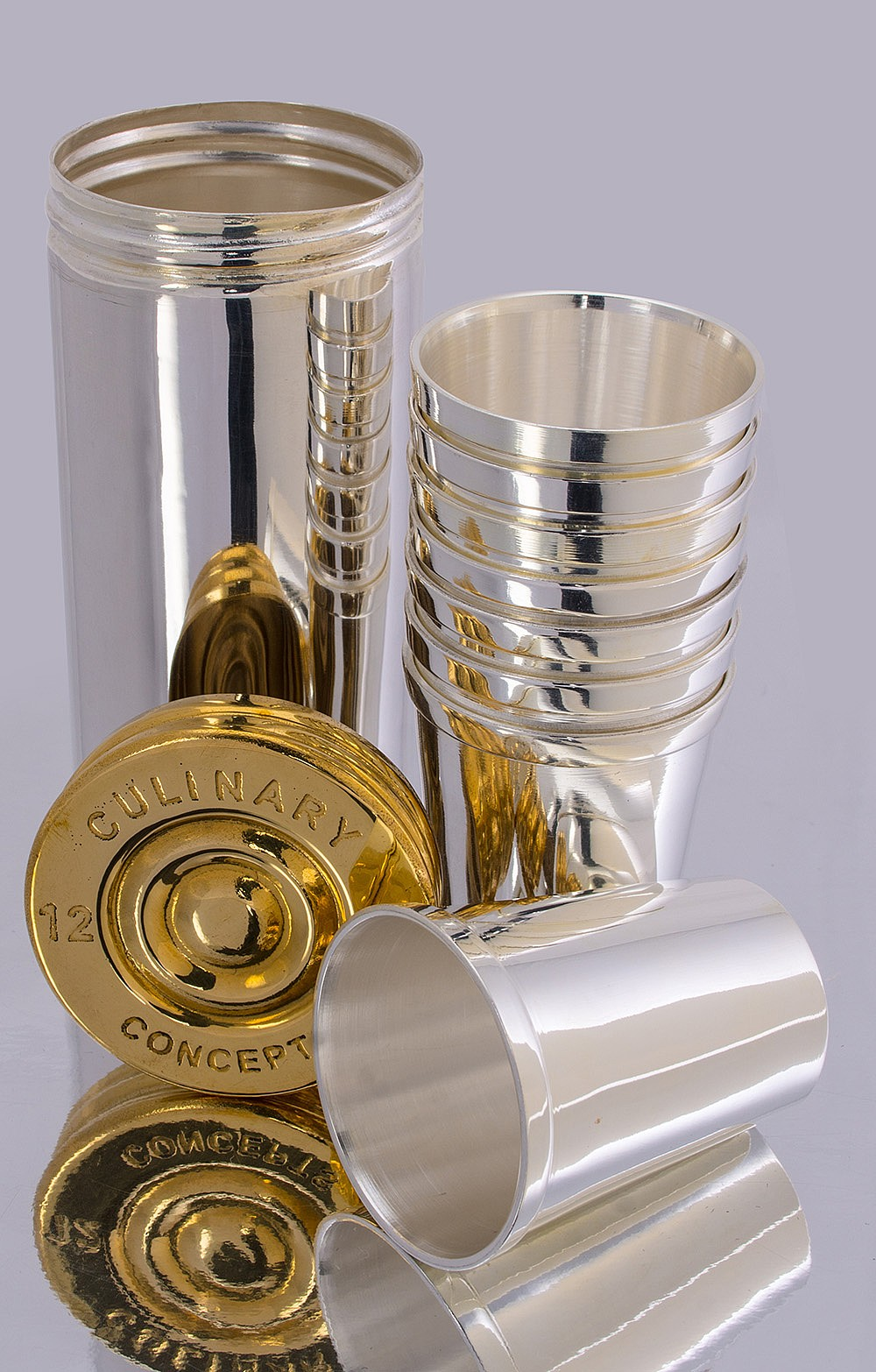 House of Bruar silver plated cartridge cups