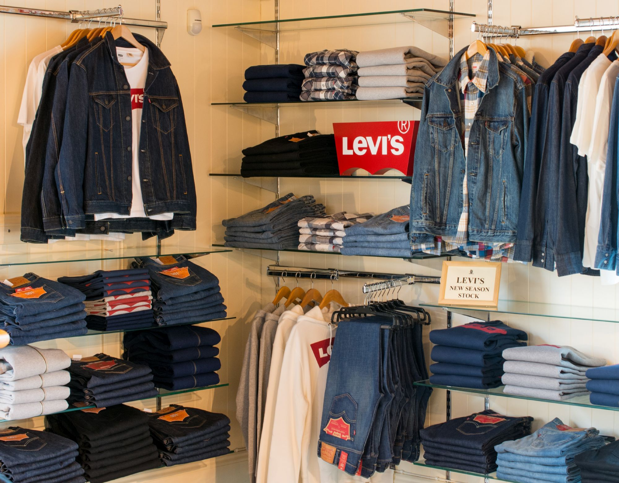 Levi department menswear hall at House of Bruar Country Clothing