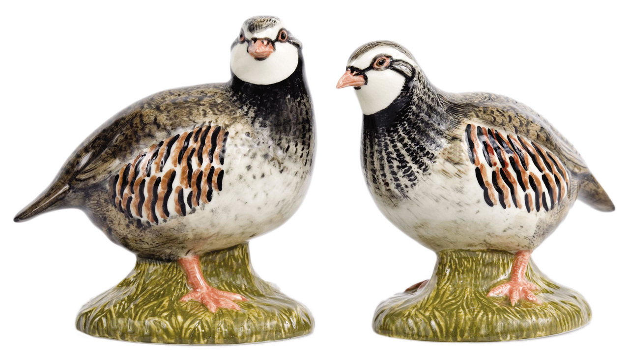House of Bruar Quail ceramics salt and pepper patridge shakers