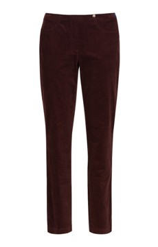Robell needlecord trousers in burgundy