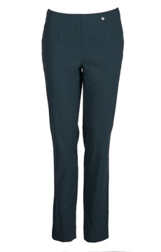 Robell stretch trousers in Bottle Green