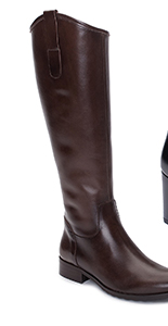 Ladies House of Bruar long classic riding boot dark brown leather country fashion