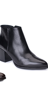 Ladies House of Bruar leather black ankle boots heeled country fashion