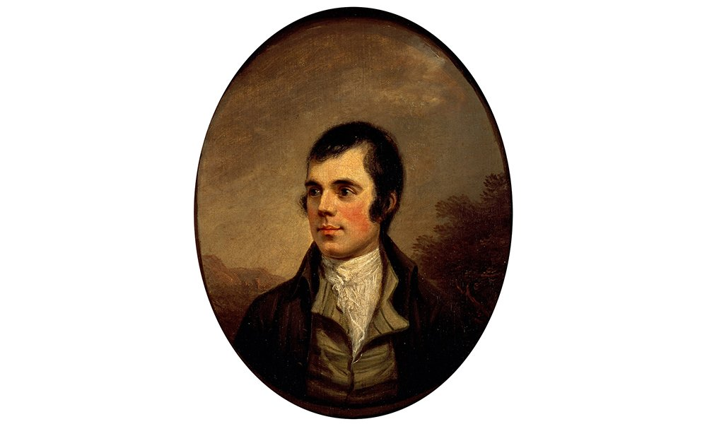 Robert Burns as depicted by Alexander Nasmyth