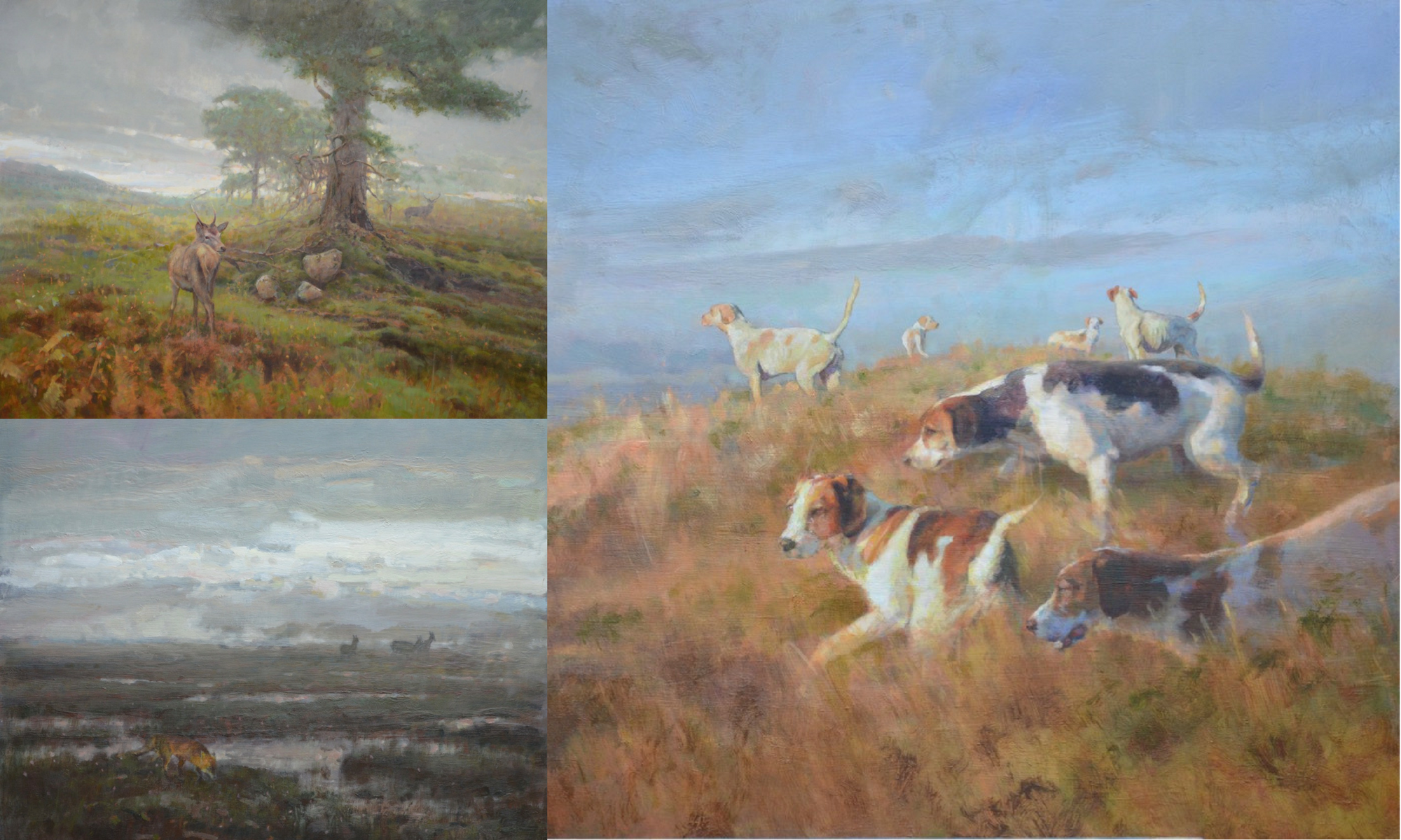 Ian MacGillivray new works including deer hounds and Scottish landscapes