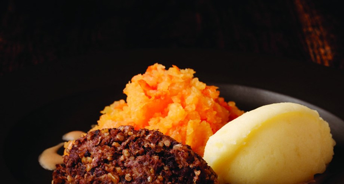 MacSween Haggis 'Neep' turnips and 'Tatties' potatoes for traditional Burns Supper meal