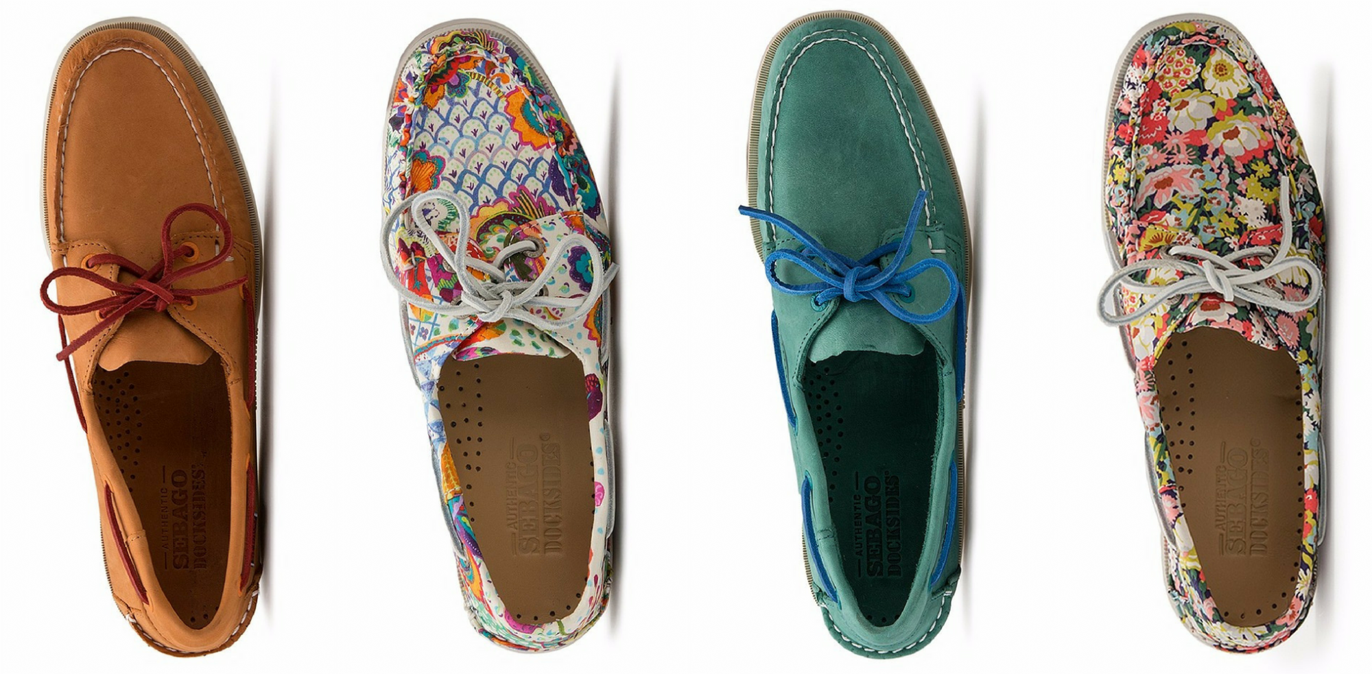 Sebago boat shoes ladies and mens, bala liberty print