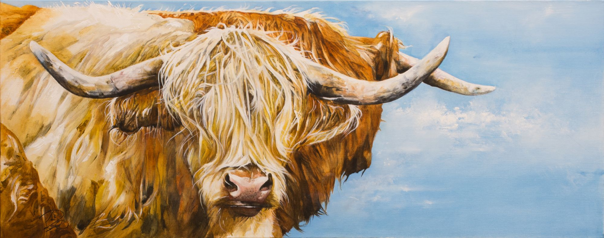 Paula Vize art Highland Cow