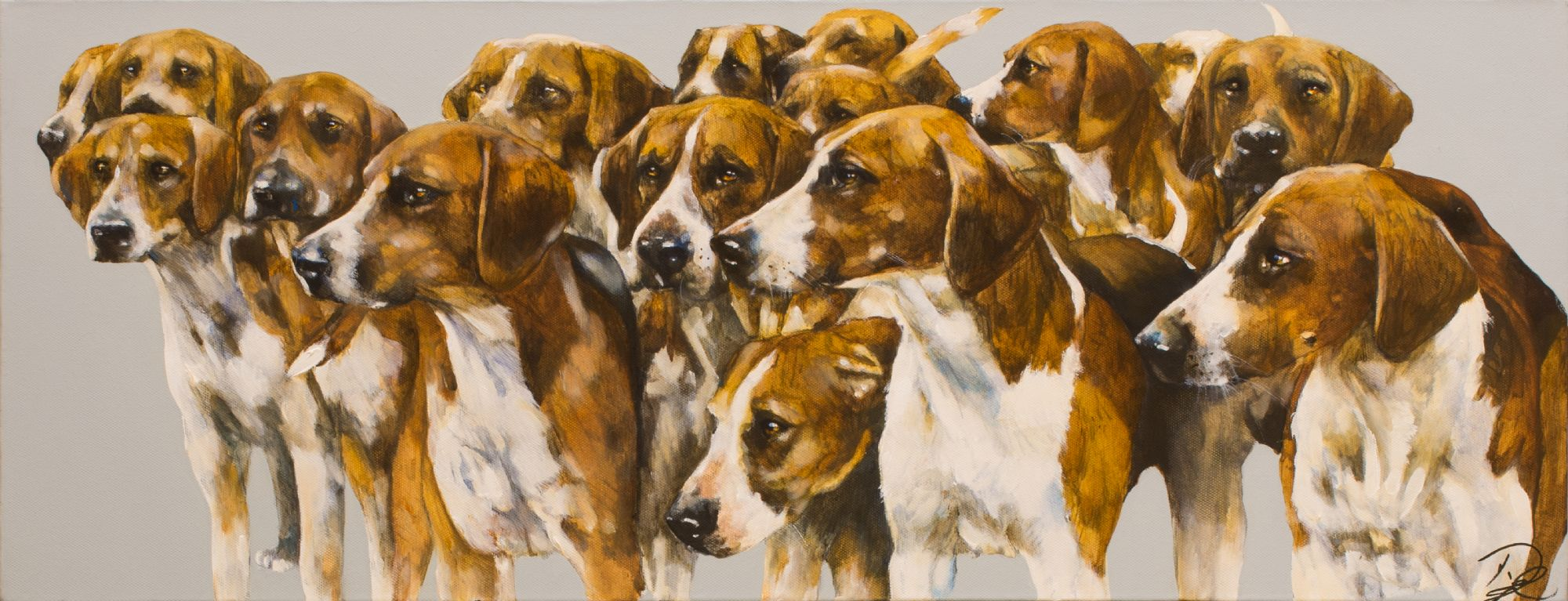 Paula Vize art dog English Foxhound