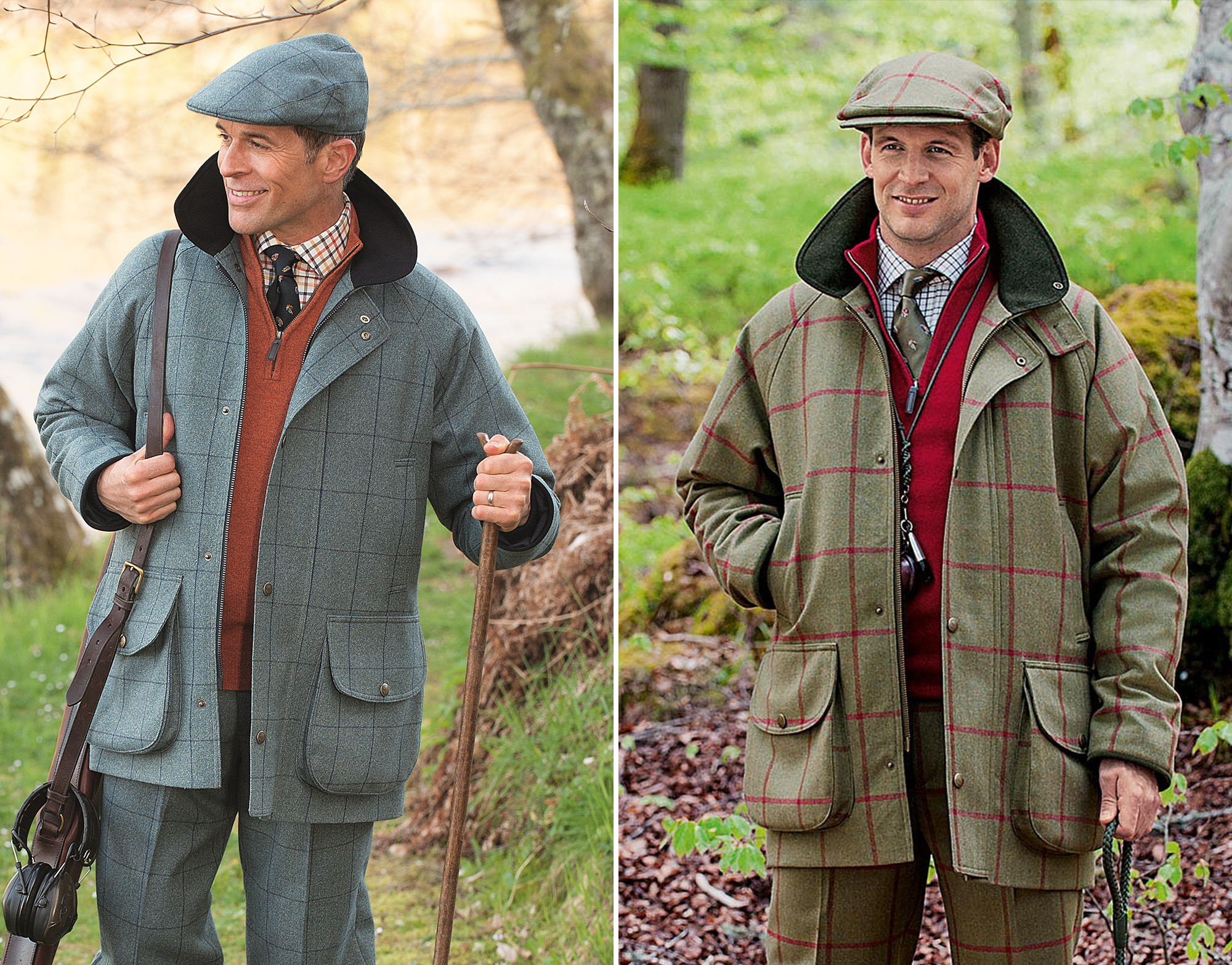Pure new wool British Tweed windowpane fieldsport sporting wardrobe