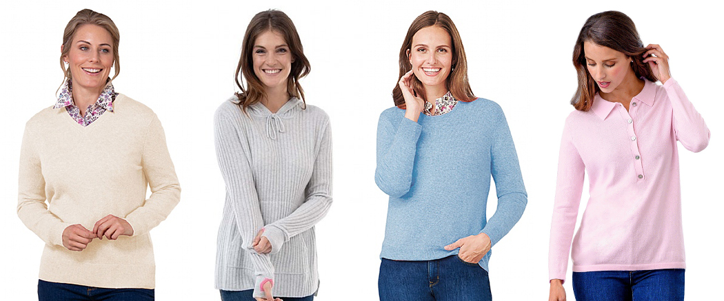Selection of cashmere garments
