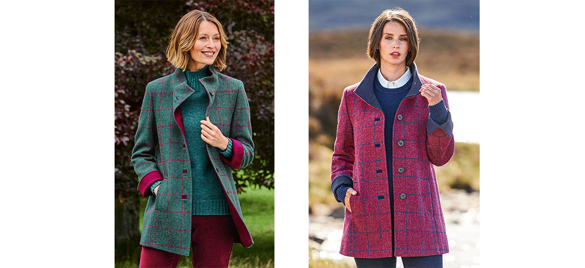 Harris tweed coats