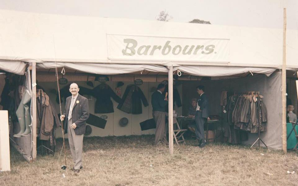 John Barbour at original stand in country fair selling country clothing