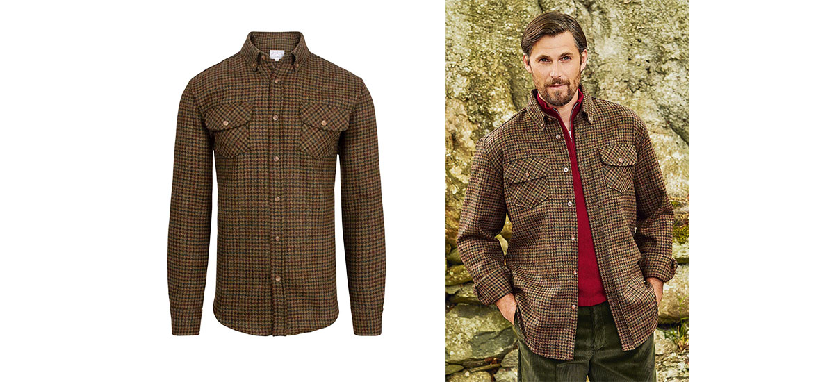 men's tweed overshirt