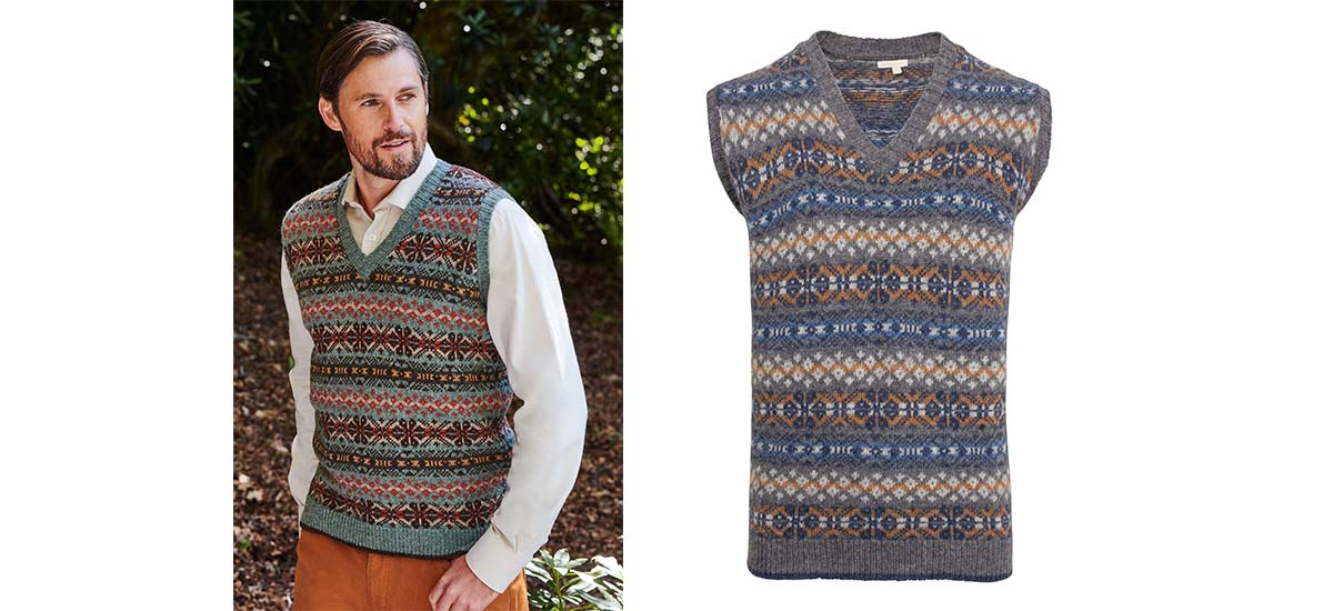 men's fairisle slip over