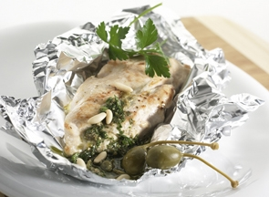 Le Gruyere Alpage AOP cheese chicken breast in foil