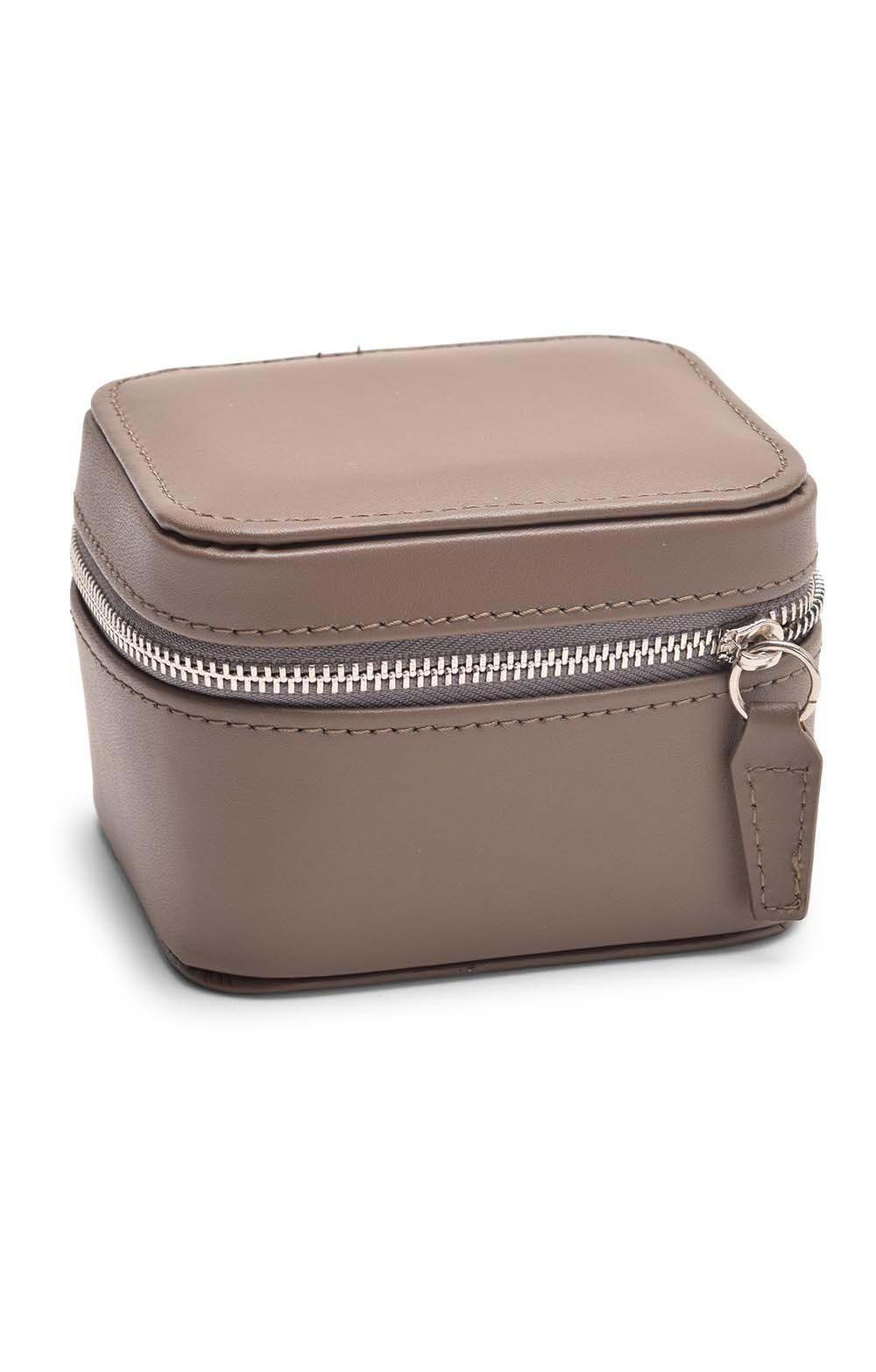 Leather Square Travel Jewellery Box