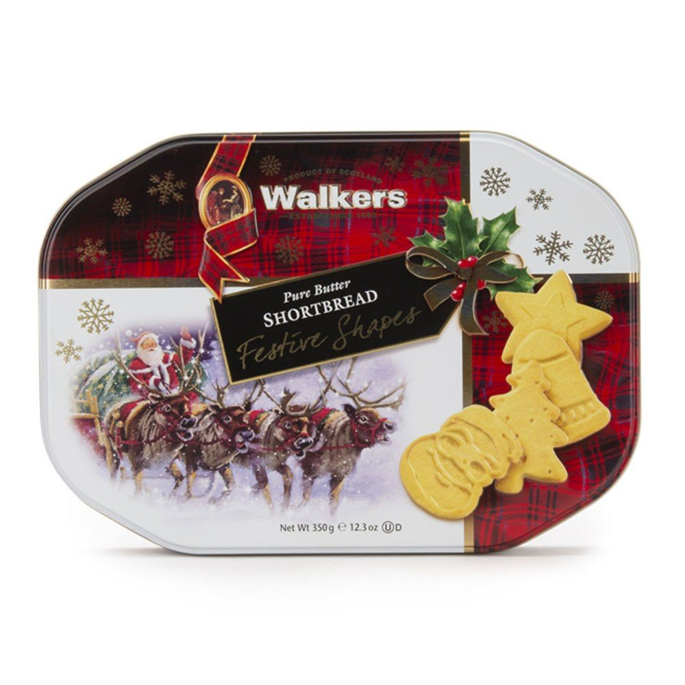 Walkers Festive Shapes Biscuit Tin 350g