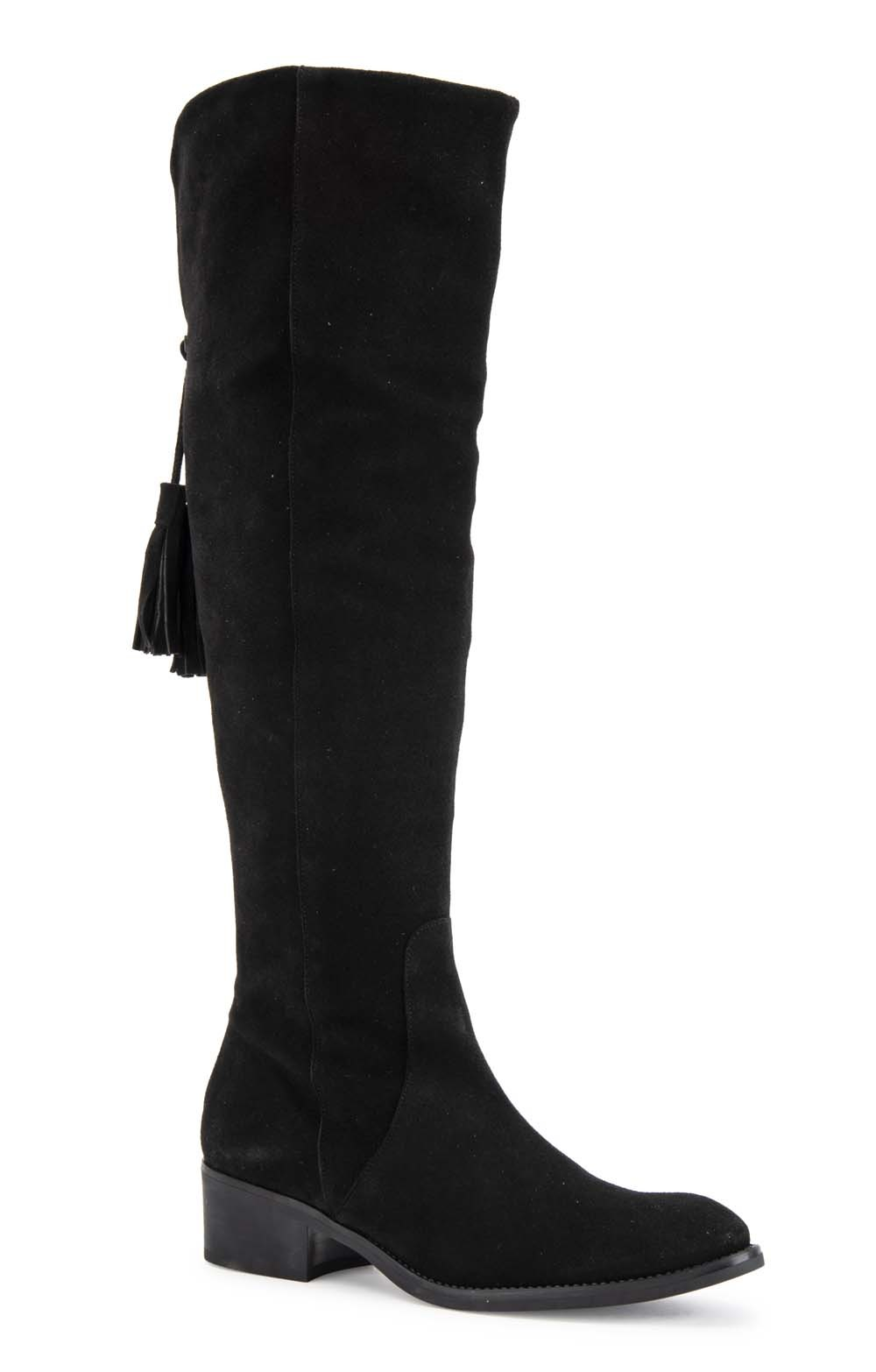 80a7e8d824f Tall Suede Boots with Tassel - House of Bruar