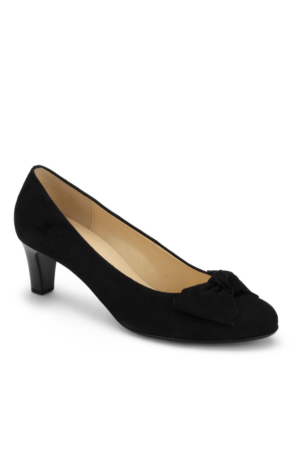 812024cd58ff0 Ladies Gabor Heeled Bow Shoe - House of Bruar