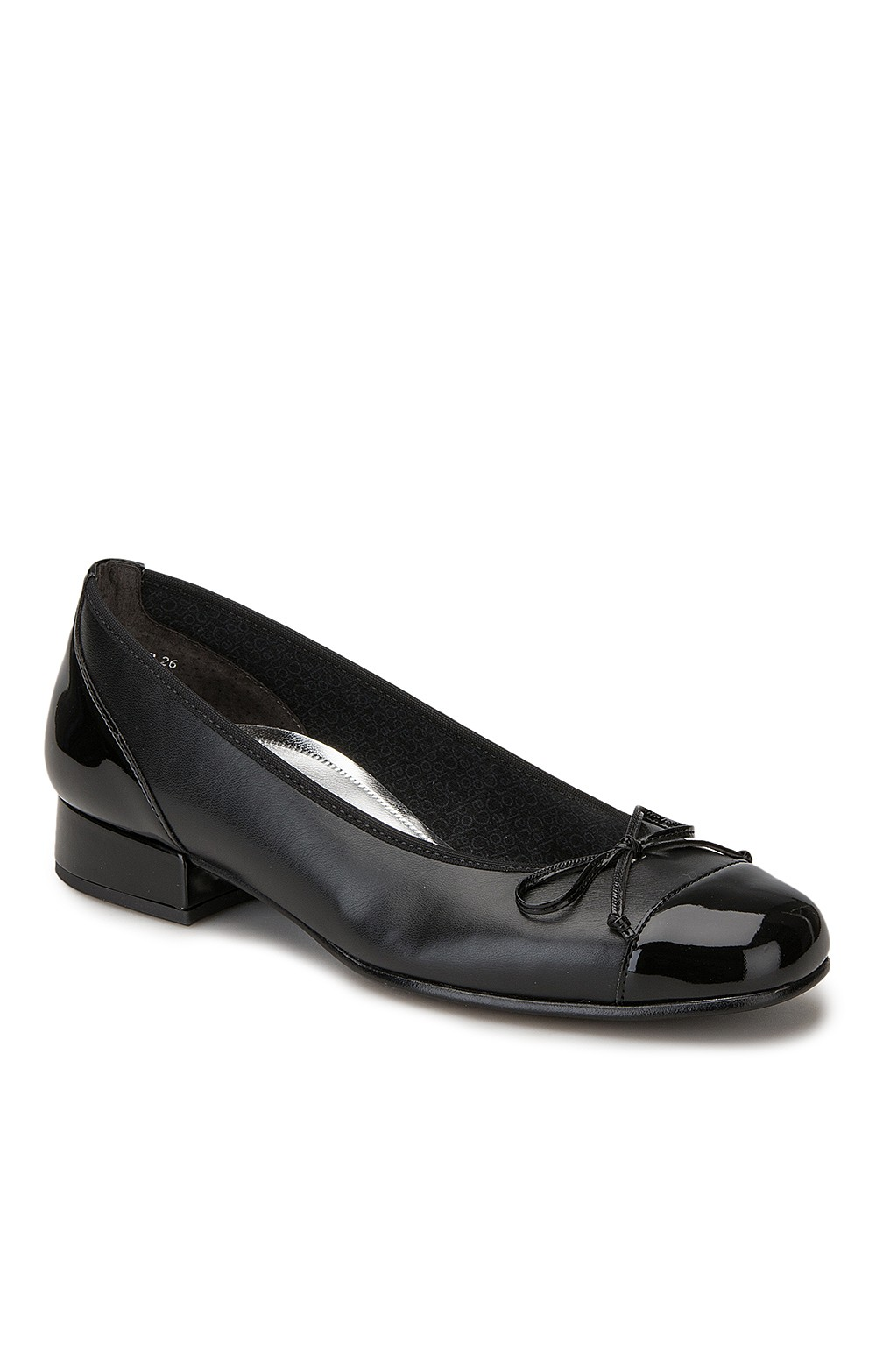 61f793375639e Gabor Patent Toe/Leather Pump - House of Bruar