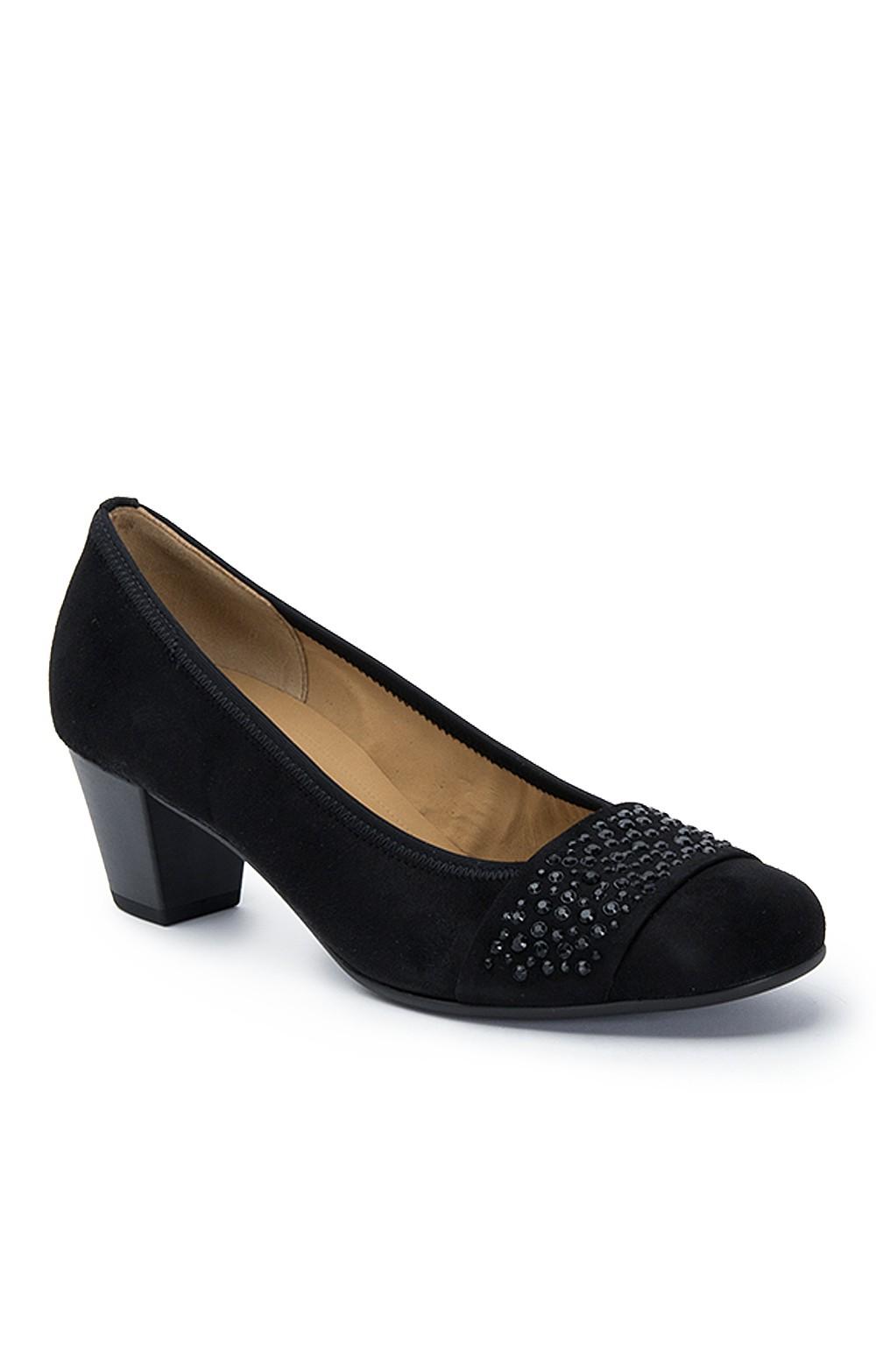 3532d8d19448c Ladies Gabor Suede Sequin Court Shoes - House of Bruar
