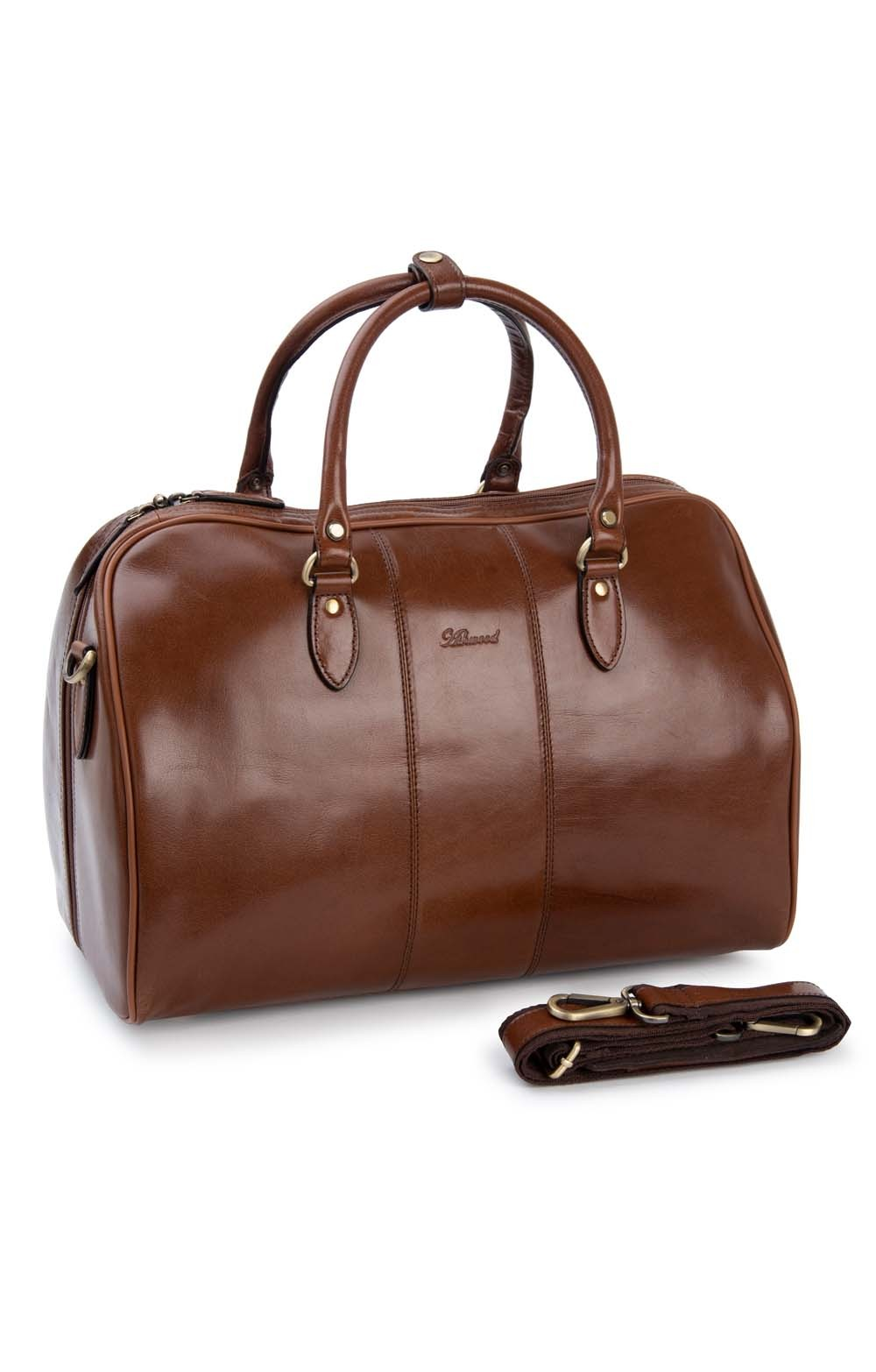 Leather Overnight Bag Loading Zoom