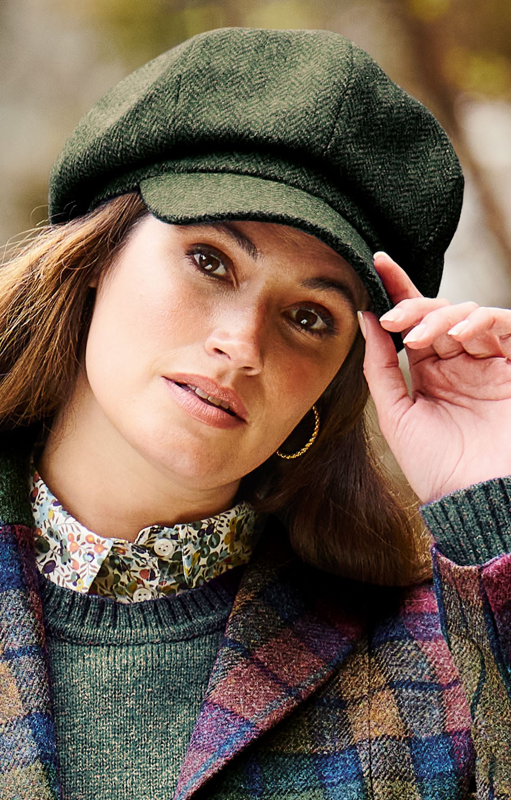 a78faa244 Ladies Tweed 8 Piece Cap