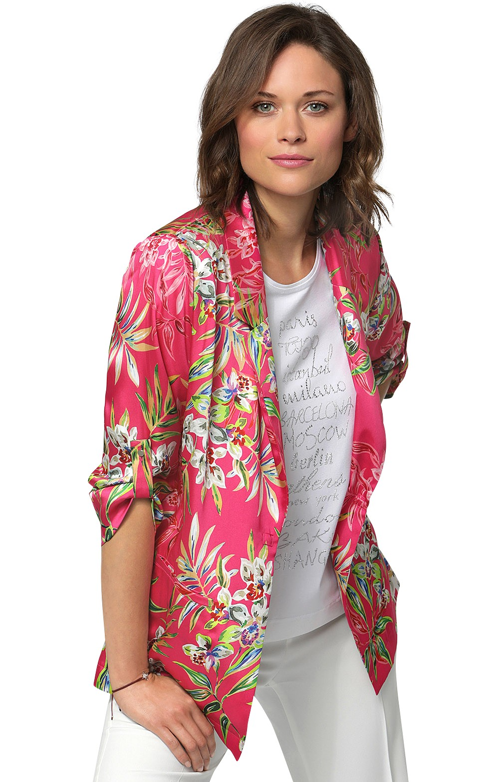 874fd3975c203a Ladies Erfo Print Jacket - House of Bruar