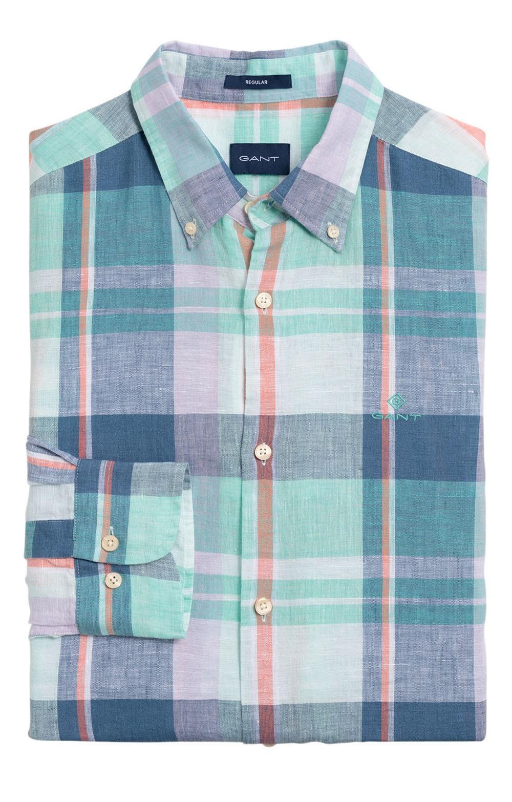 e25754af200596 Men's Gant Madras Linen Shirt - House of Bruar