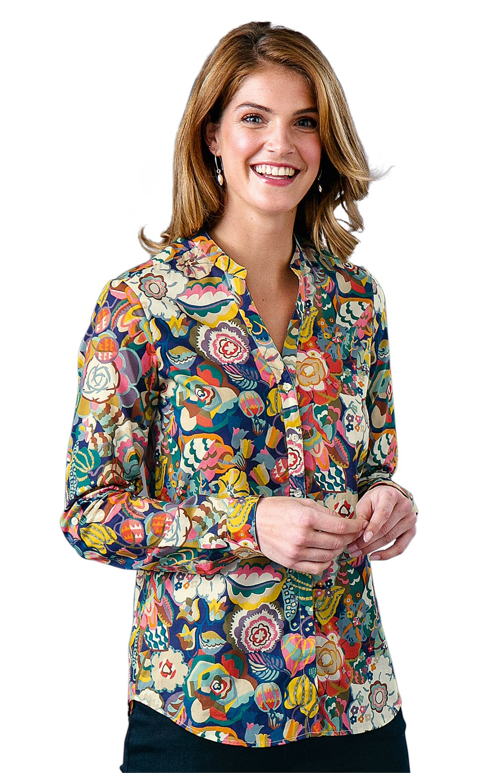 f3111a3d7ae320 Ladies Liberty Open Collar Shirt - House of Bruar
