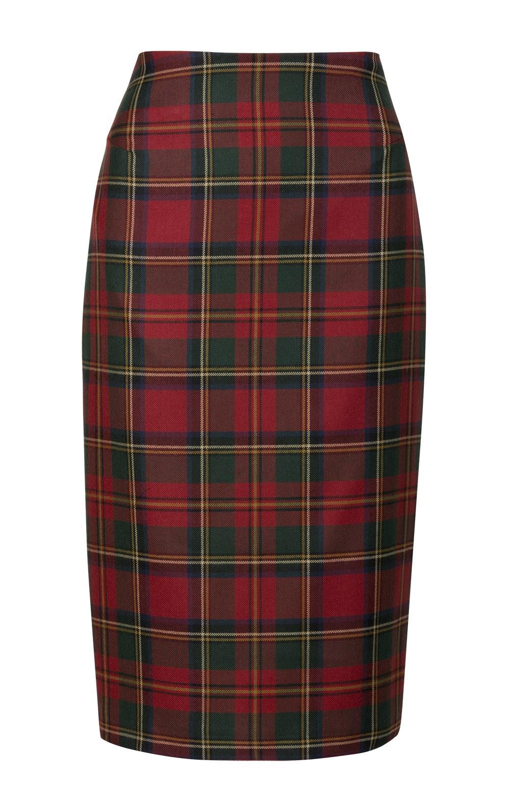 296ecb9b1c20 Plaid Pencil Skirt - House of Bruar