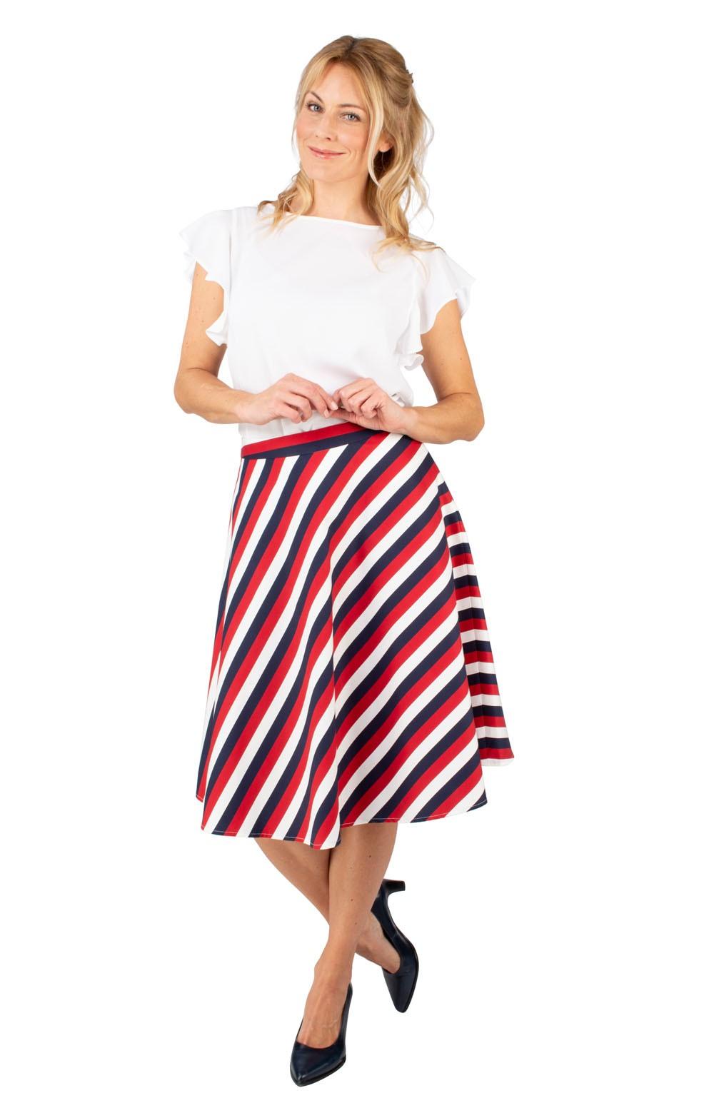 f694e552739c3d Ladies Seidensticker Striped Skirt - House of Bruar