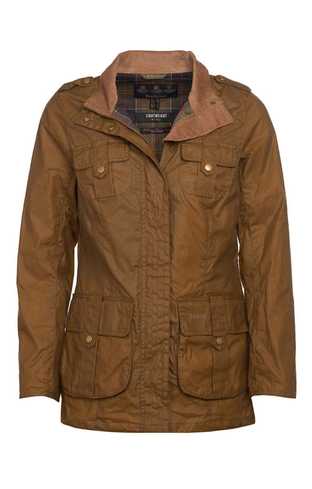 barbour ladies waxed defence jacket