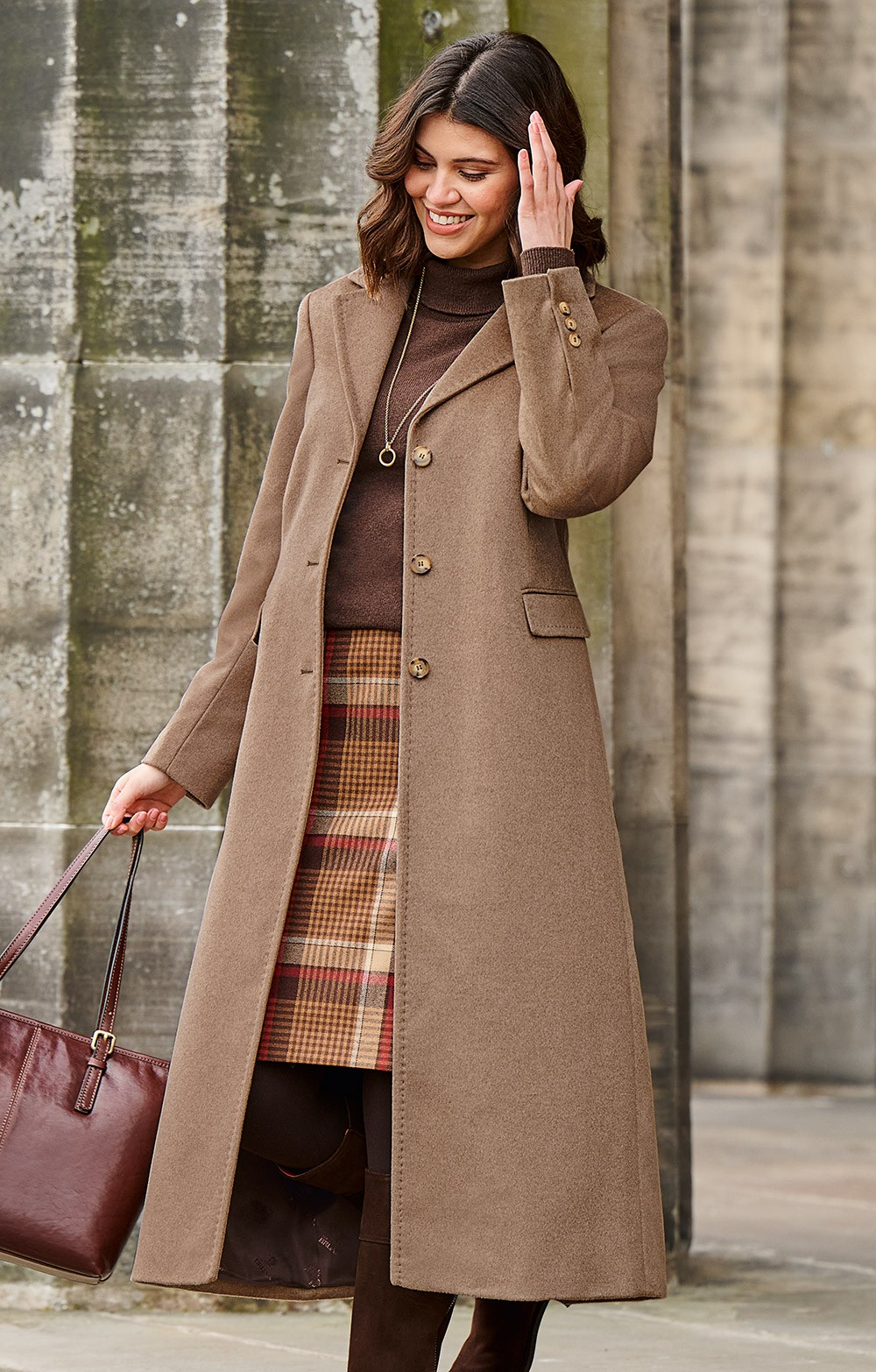 Single Breasted Full Length Cashmere Coat - House of Bruar 7a6a1eb7c