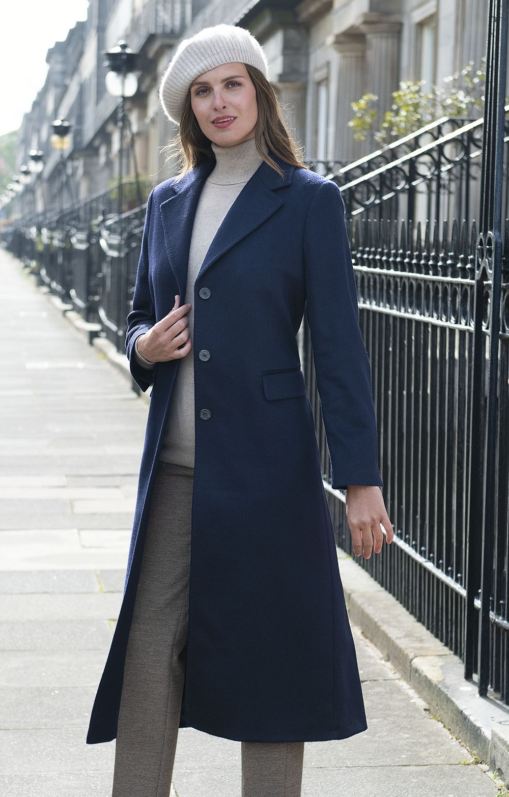7768c5c97 Single Breasted Full Length Cashmere Coat