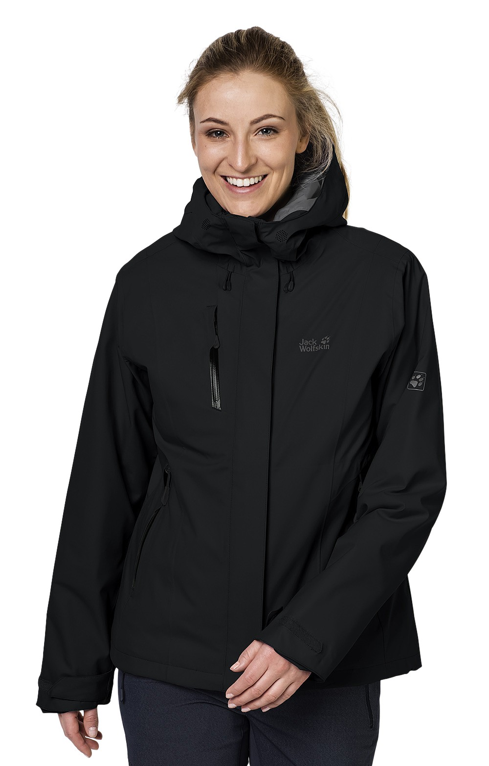 New women silver Jack Wolfskin Troposphere down jacket