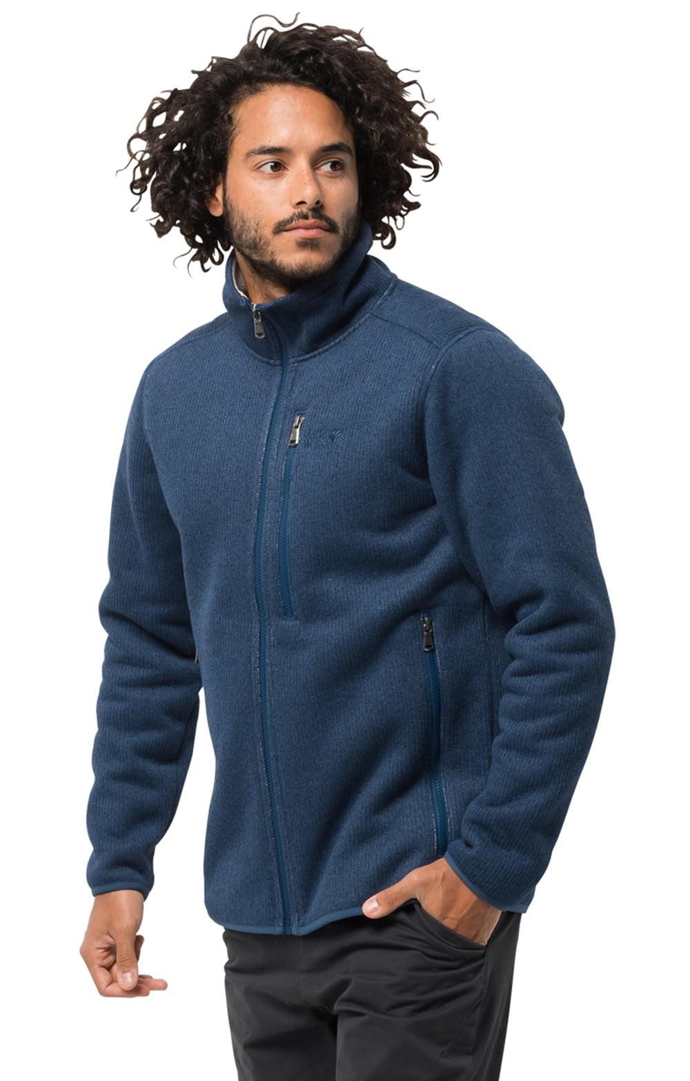 dc93098ae6 Men's Jack Wolfskin Robson Fjord Knit Fleece Jacket - House of Bruar