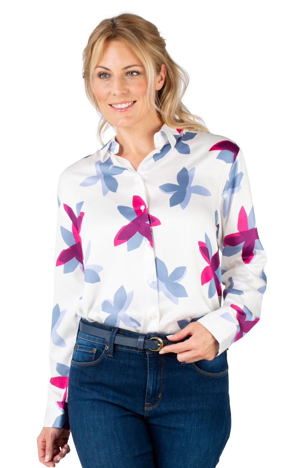 5e4db6add1ae9e Ladies Seidensticker Print Shirt - House of Bruar