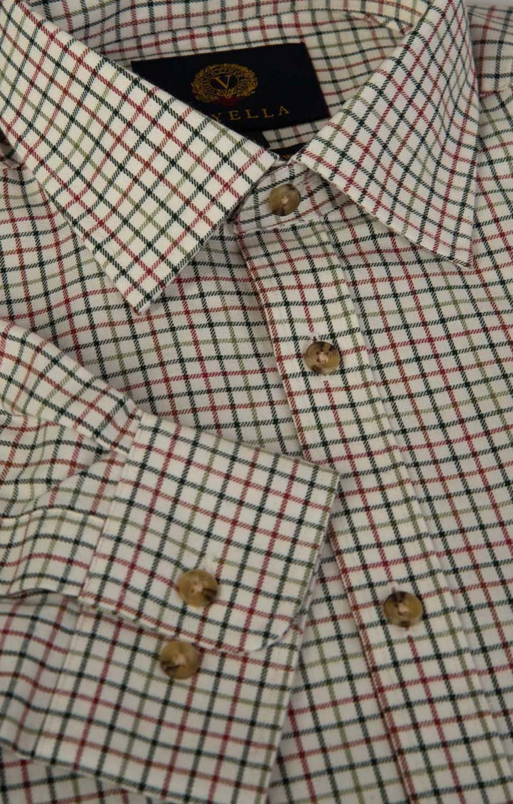 Men S Viyella Cotton Wool Shirt Men S Tattersall Shirts House Of Bruar