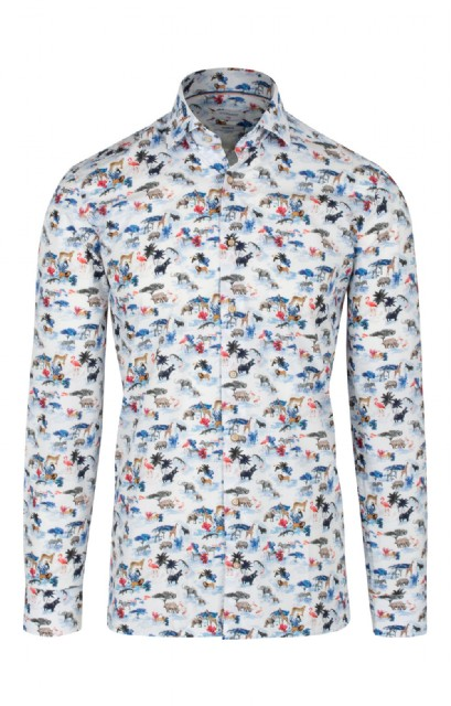 f950d619283393 Men s Baileys Cotton Fun Print Shirt - House of Bruar