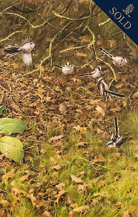 Woodcock and Long Tailed Tits by Rodger McPhail